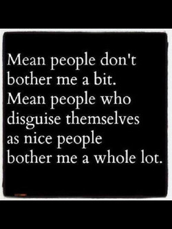 Mean people don't 