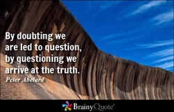 By doubtin we 