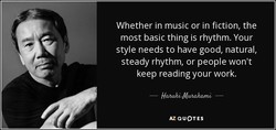 Whether in music or in fiction, the 