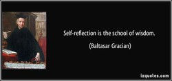 Self-reflection is the school of wisdom. 