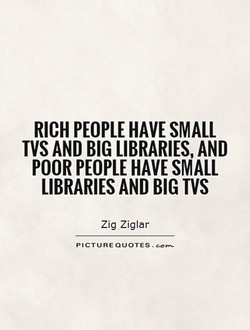 RICH PEOPLE HAVE SMALL 