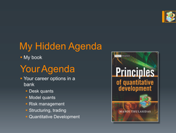 My Hidden Agenda 