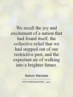 We recall the joy and 