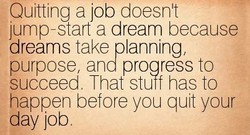 Quitting a job doesn' 