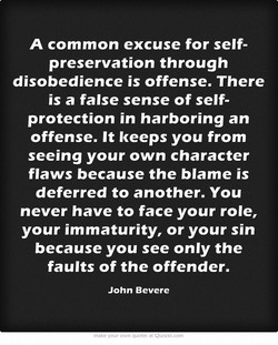 A common excuse for self- 
