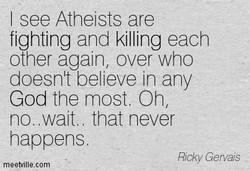 I Atheists are 