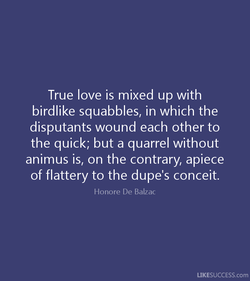 True love is mixed up with 