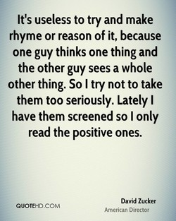 It's useless to try and make 