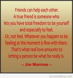Friends can help each other. 