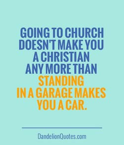 GOING TO CHURCH 