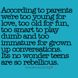 According to parents 