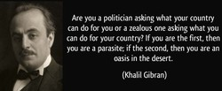 Are you a politician asking what your country 