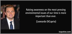 Raising awareness on the most pressing 