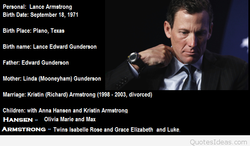 Personal: Lance Armstrong 