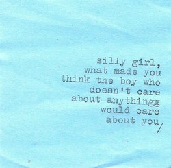 silly girl, 