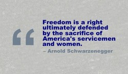Freedom is a right 