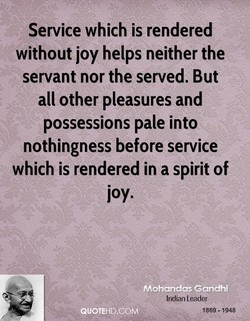 Service which is rendered 
