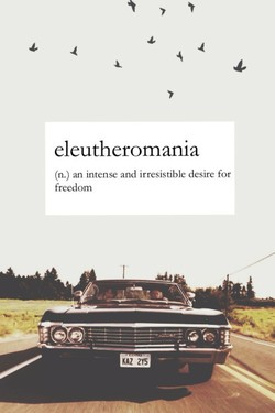 eleutheromania 