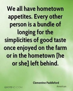 We all have hometown 