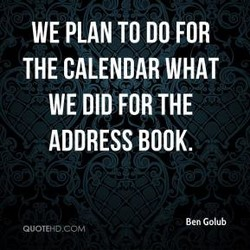 WE PLAN TO DO FOR 