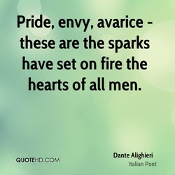 Pride, envy, avarice - 