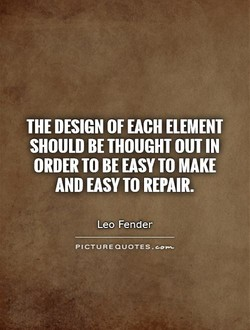 THE DESIGN OF EACH ELEMENT 