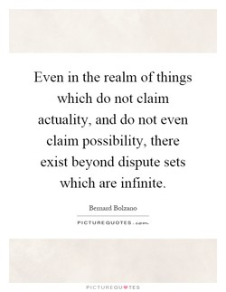 Even in the realm of things 