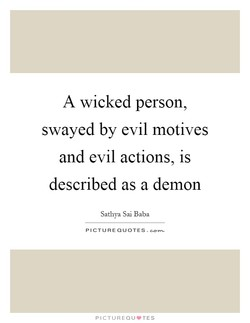 A wicked person, 