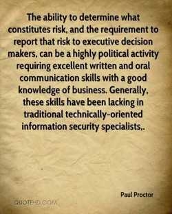 The ability to determine what 
