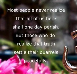 Most people never realize 