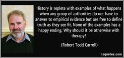History is replete with examples of what happens 