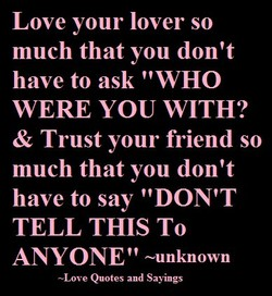 Love your lover so 