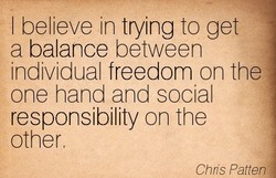 I believe in trying to get 
