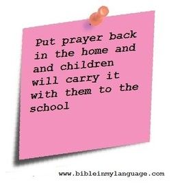 Put prayer back 