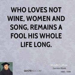 WHO LOVES NOT 