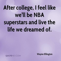 After college, I feel like 