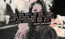 EACH PAIN MAKES you YORE STRONG, 