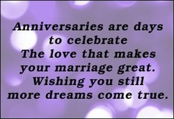 Anniversaries are days 