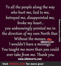 To all the people along the way 