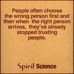 People often choose 