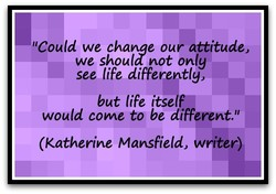 'Could we chame our attitude, 