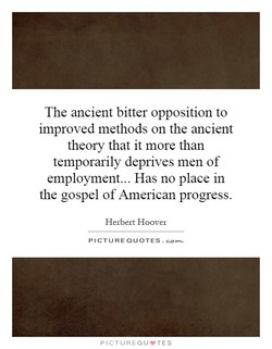 The ancient bitter opposition to 
