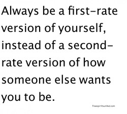 Always be a first-rate 