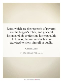 Rags, which are the reproach of poverty, 
