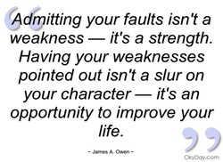 A rpitting your faults isn't a 
