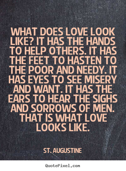 WHAT DOES LOVE LOOK 