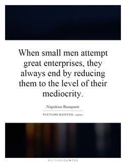 When small men attempt 