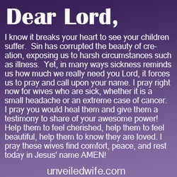 Dear Lord, 