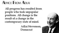 ADVICE FROM ADLAI 