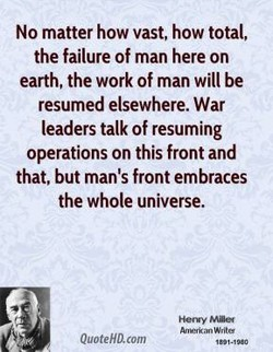 No matter how vast, how total, 